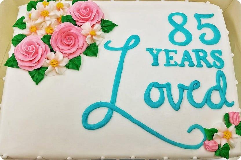 85 Year Anniversary Cake