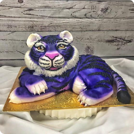 Blue Tiger Cake